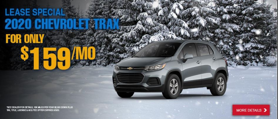 Lease a 2020 Chevy Trax