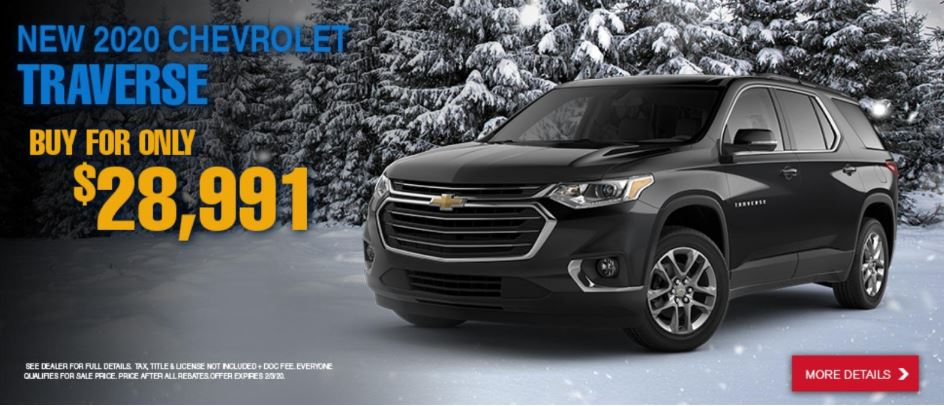 Lease a 2020 Chevy Traverse