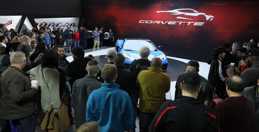 2020 Corvette at the 2020 Chicago Auto Show