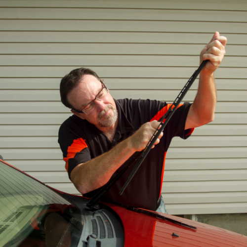 We make sure to check and change your wiper blades after your service.