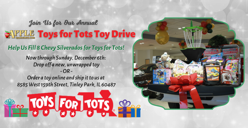 Join Us for Our Annual Toys for Tots Drive at Apple Chevy
