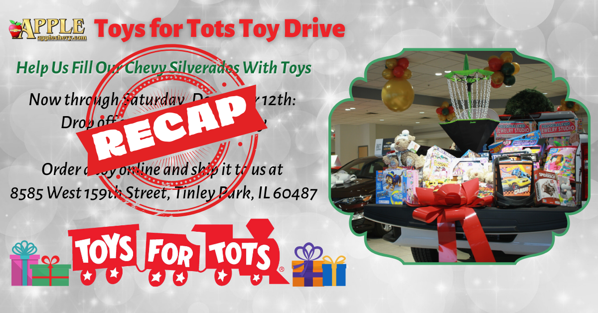 Apple Chevy Toys for Toys Toy Drive Recap